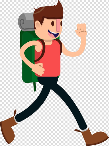 Hiking & backpacking Animation, Cute cartoon character pattern plane backpack transparent background PNG clipart png image transparent background