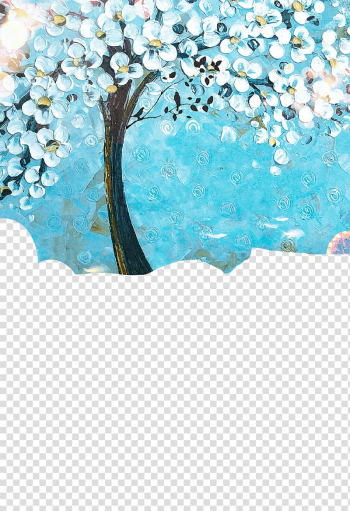 Painted Trees transparent background PNG clipart png image transparent background