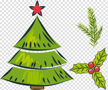 Christmas tree Drawing Gift, Green Christmas Tree transparent background PNG clipart png image transparent background