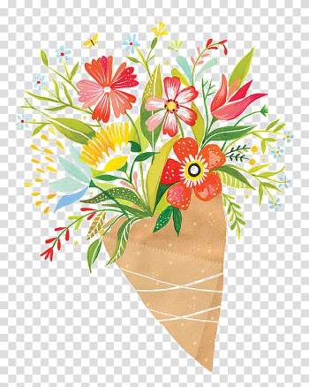 Paper Flower bouquet Printing, bouquet watercolor transparent background PNG clipart png image transparent background