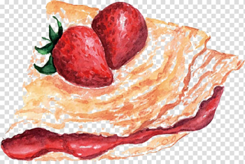 Pancake Watercolor painting Illustration, bread transparent background PNG clipart png image transparent background
