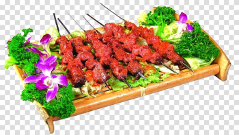 Barbecue Kebab Teppanyaki Bacon Pig roast, barbecue transparent background PNG clipart png image transparent background