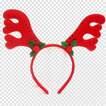 Christmas antlers headband headdress transparent background PNG clipart png image transparent background