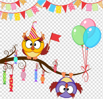 Birds illustration, Owl Party Birthday Gift , Birthday Owl transparent background PNG clipart png image transparent background
