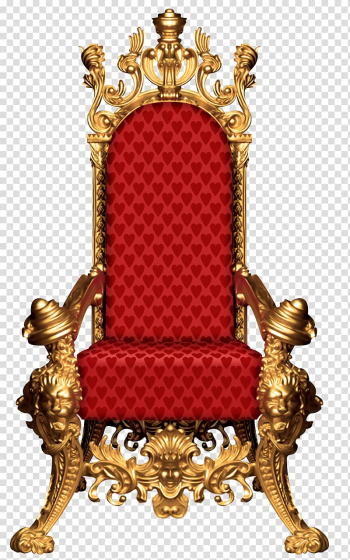 Gold framed red padded armchair, Democratic Dynasties: State, Party and Family in Contemporary Indian Politics Chair Furniture, Fairy tale throne transparent background PNG clipart png image transparent background