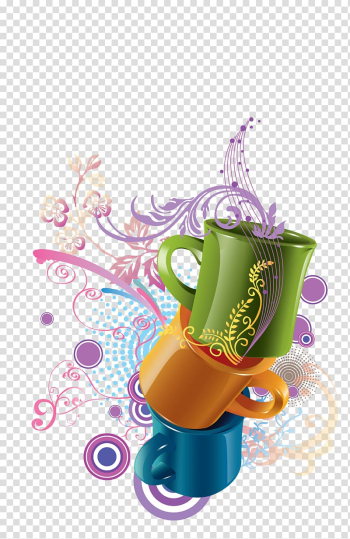 Cup Watercolor painting, Creative cup transparent background PNG clipart png image transparent background