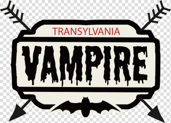 White and black Transylvania Vampire logo, Watercolor painting Poster New Year\'s resolution, Red watercolor effect transparent background PNG clipart png image transparent background