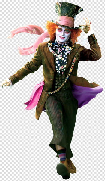 Alice in Wonderland The Hatter, The Mad Hatter Alice in Wonderland Queen of Hearts Red Queen, Clown prince fairy tale transparent background PNG clipart png image transparent background