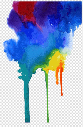 Multicolored paint illustration, Watercolor meets drop transparent background PNG clipart png image transparent background