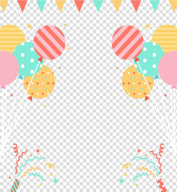Assorted-color balloons illustration, Party hat Carnival Balloon Birthday, Lively party carnival transparent background PNG clipart png image transparent background