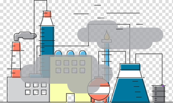 Factory illustration, Air pollution Industry, Industrial pollution transparent background PNG clipart png image transparent background