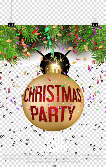 Christmas ornament Party, Flash Christmas party invitations transparent background PNG clipart png image transparent background