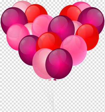 Pink, red, and purple balloon heart illustration, Love High-definition video Heart , Ballon Heart transparent background PNG clipart png image transparent background