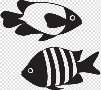 Koi Goldfish Euclidean , Black and white fish stick figure transparent background PNG clipart png image transparent background