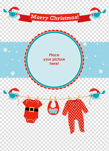 Merry Christmas border illustration, Santa Claus Christmas Infant Party, Christmas Baby transparent background PNG clipart png image transparent background