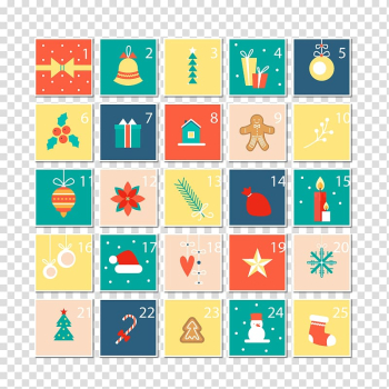 25 days of Christmas transparent background PNG clipart png image transparent background