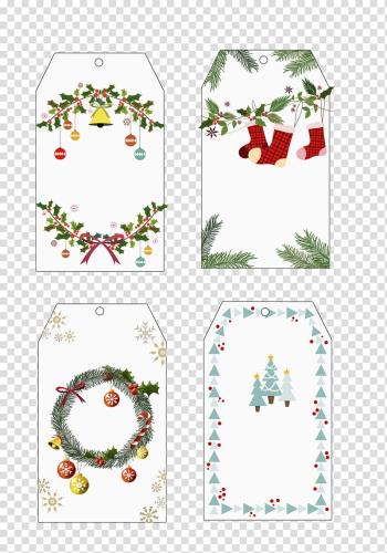 Christmas card Christmas tree Etiquette, Label,Christmas card transparent background PNG clipart png image transparent background