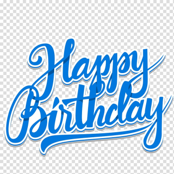 Blue happy birthday illustration, Birthday cake Wedding invitation , Blue Happy Birthday WordArt transparent background PNG clipart png image transparent background