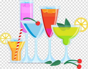 Cocktail garnish Juice Wine glass , Colorful cocktail transparent background PNG clipart png image transparent background