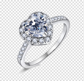 Engagement ring Wedding ring Platinum Diamond, Heart Ring transparent background PNG clipart png image transparent background