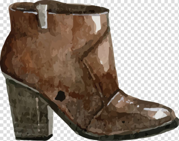 Watercolor painting Shoe, boots transparent background PNG clipart png image transparent background