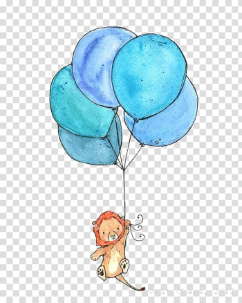 Blue balloons illustration, Lion Paper Avatar Drawing Icon, lion transparent background PNG clipart png image transparent background