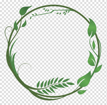 Round green vine border , Common ivy Leaf Green Vine, green leaves and branches combination ring transparent background PNG clipart png image transparent background