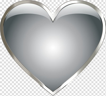 Heart-shaped silver illustration, Stainless steel Metal Heart , Heart Pendant transparent background PNG clipart png image transparent background