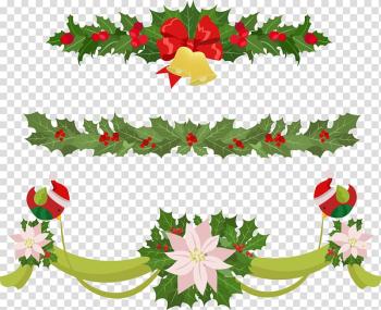 Garland Christmas Euclidean , Christmas bow decoration transparent background PNG clipart png image transparent background