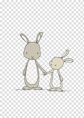 Gray bunnies illustration, Easter Bunny White Rabbit Bunny Story Drawing, Cartoon rabbit transparent background PNG clipart png image transparent background