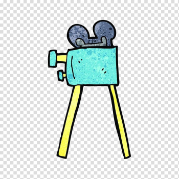 Camera Operator Caricature Illustration, Hand painted color projector transparent background PNG clipart png image transparent background