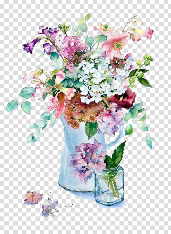 Assorted-color flowers illustration, Orchids in Watercolour Watercolor painting Flowers in the Landscape Art, Watercolor flowers transparent background PNG clipart png image transparent background