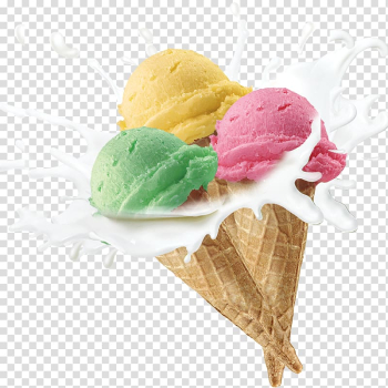 Assorted-color ice creams, Ice cream cone Smoothie Neapolitan ice cream, Tri-color ice cream transparent background PNG clipart png image transparent background