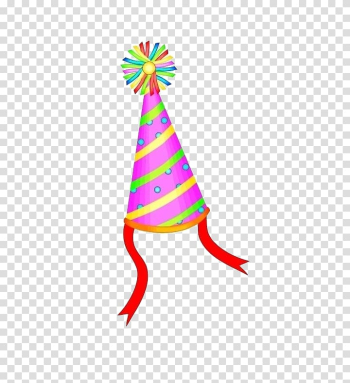 Birthday cake Party Hat, Color hat transparent background PNG clipart png image transparent background