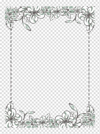 Gray floral borders illustration, Flower Icon, White flower frame transparent background PNG clipart png image transparent background