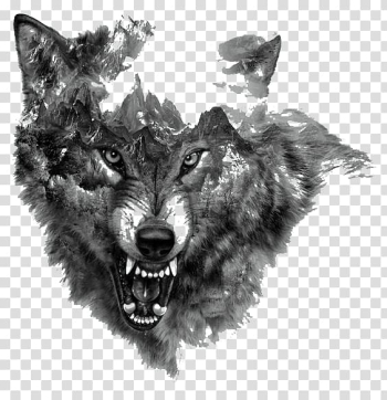 Painting of fox, Arctic wolf Tattoo Northern Rocky Mountain wolf Flash, Painted wolf transparent background PNG clipart png image transparent background