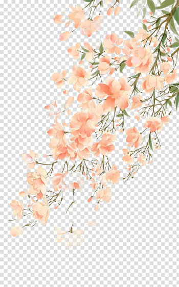 Watercolor painting Flower, Antiquity beautiful watercolor illustration, cherry blossoms tree transparent background PNG clipart png image transparent background