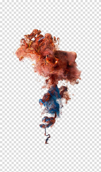 Smoke bomb Colored smoke Smoke grenade, Creative color smoke effects, brown and blue art transparent background PNG clipart png image transparent background