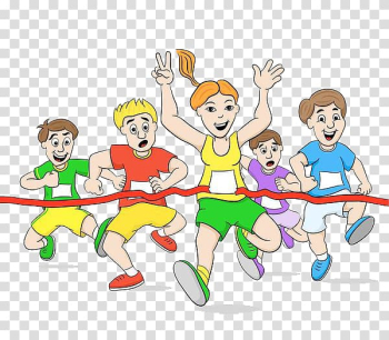 Drawing Cartoon, Runners at the finish line transparent background PNG clipart png image transparent background