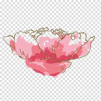 Watercolor: Flowers Watercolor painting Pink, Watercolor flowers transparent background PNG clipart png image transparent background