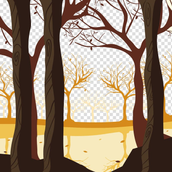 Shulin District Autumn Poster Illustration, forest transparent background PNG clipart png image transparent background