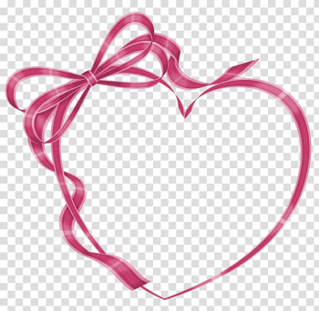 Pink ribbon forming heart illustration, Wedding invitation Love Heart , Heart-shaped frame fashion transparent background PNG clipart png image transparent background