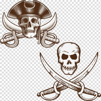 Piracy Illustration, Pirate ship theme material transparent background PNG clipart png image transparent background