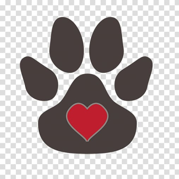 Tiger Dog Paw , Heart-shaped footprints transparent background PNG clipart png image transparent background