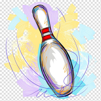 Ten-pin bowling Illustration, Bowling painted transparent background PNG clipart png image transparent background