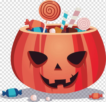 Halloween Trick-or-treating Illustration, hand-painted pumpkin monster transparent background PNG clipart png image transparent background