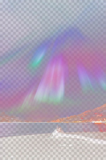 Northern Lights above body of water, Rainbow Sky Sunlight Atmosphere Daytime, aurora transparent background PNG clipart png image transparent background