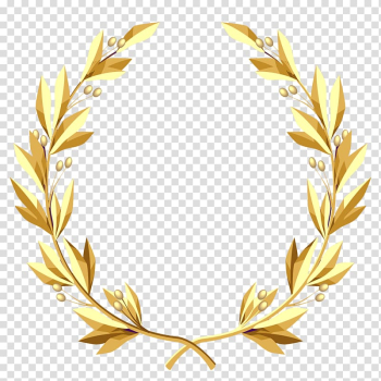 Yellow leaf wreath, Laurel wreath Gold , column transparent background PNG clipart png image transparent background