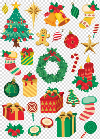 Christmas tree, Christmas element transparent background PNG clipart png image transparent background