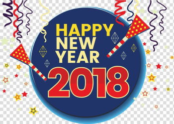 New Year\'s Day New Year\'s Eve Wish, 2018 happy New Year! transparent background PNG clipart png image transparent background